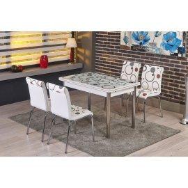 БЕЗПЛАТНА ДОСТАВКА!!!Трапезен комплект - маса + 4 стола Бордо