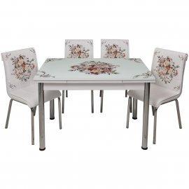 БЕЗПЛАТНА ДОСТАВКА!!! комплект - маса + 4 стола Букет