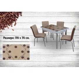 БЕЗПЛАТНА ДОСТАВКА!!! комплект - маса + 4 стола Капучино